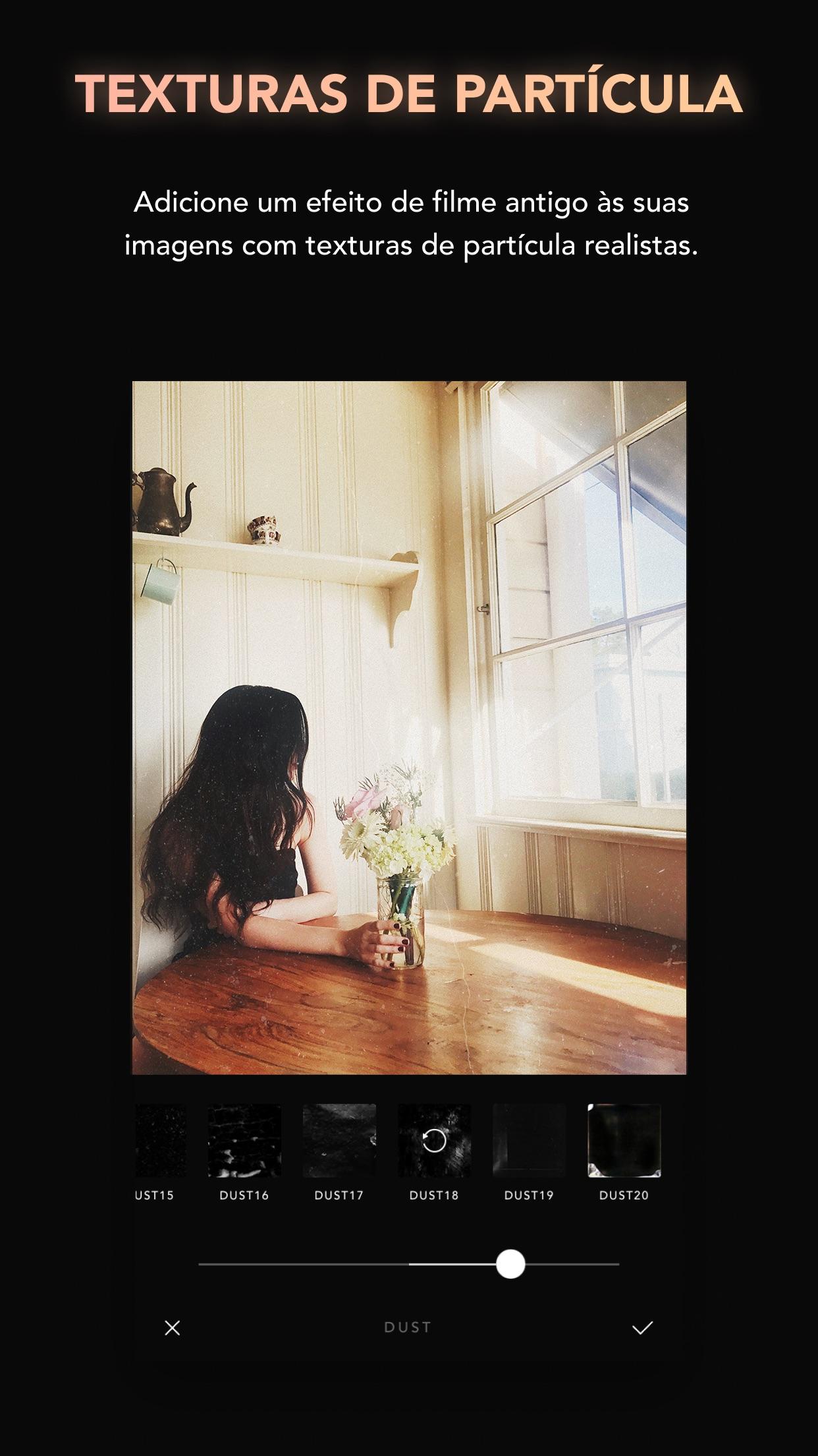Screenshot do app Afterlight — Editor de Fotos