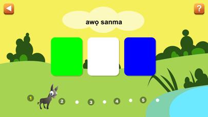 Screenshot of Yoruba First Words App
