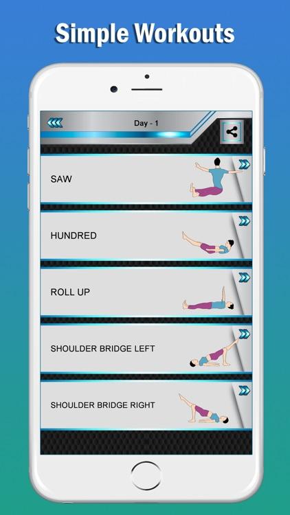 Pilates Fitness Yoga Workouts screenshot-3