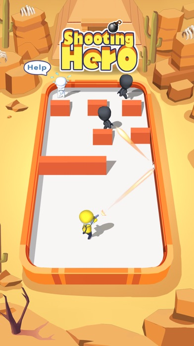 Shooting Hero - Hit Robots Toy Screenshot on iOS