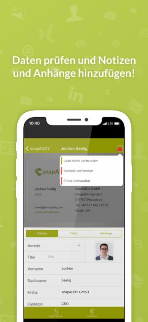 Visitenkartenscanner Für Crm Im App Store