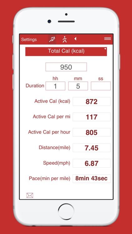 Running and Walking Calories screenshot-7