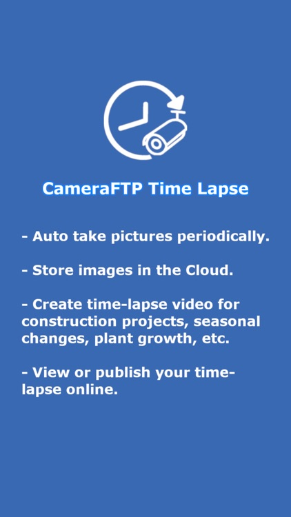 CameraFTP Time Lapse