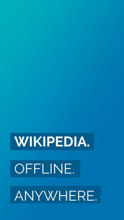 Minipedia - Offline Wikipedia