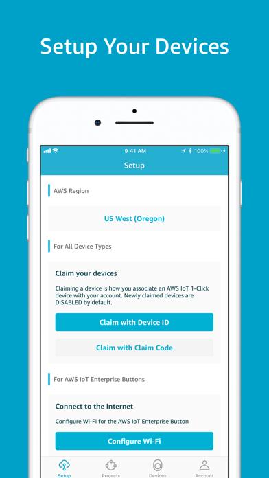 AWS IoT 1-Click Screenshot