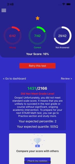 8th Grade STAAR Math Test 2019 on the App Store