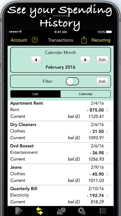 Spending Log Pro Screenshots