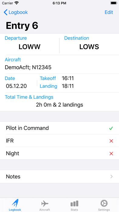 Screenshot #3 pour SkyPilot 3 - Flight Logbook