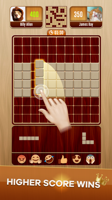 Woody Battle Block Puzzle Dual - 窓用