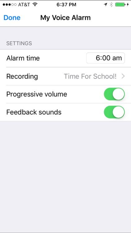 My Voice Alarm