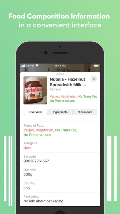 Food scanner: gluten, allergen screenshot-3