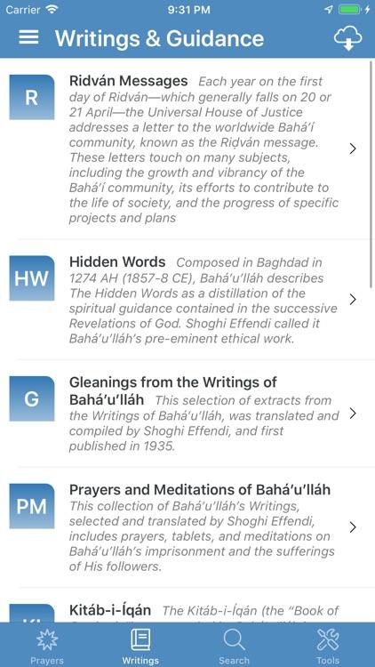 Bahá'í Prayers,Writings,Tools screenshot-5