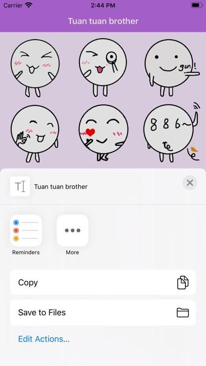 Tuan tuan brother stickers screenshot-3