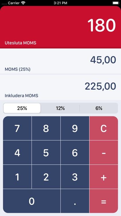 Swedish MOMS Calculator