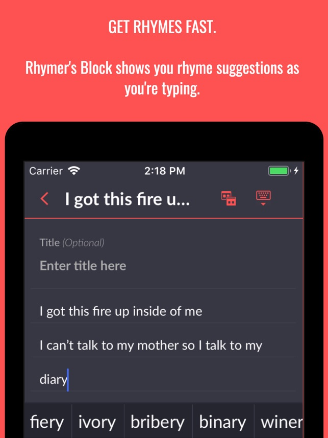 Rhymer's Block on the App Store