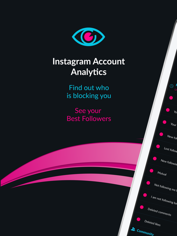 Blockers Spy for Instagram - tracking tool for IG blockers, unfollowers and new followers screenshot