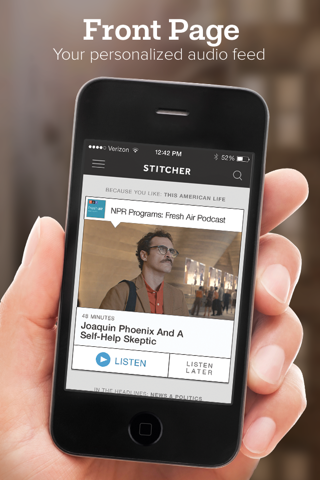 Stitcher for Podcasts - náhled