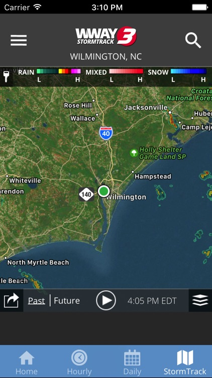 WWAY TV3 StormTrack 3 Weather screenshot-3