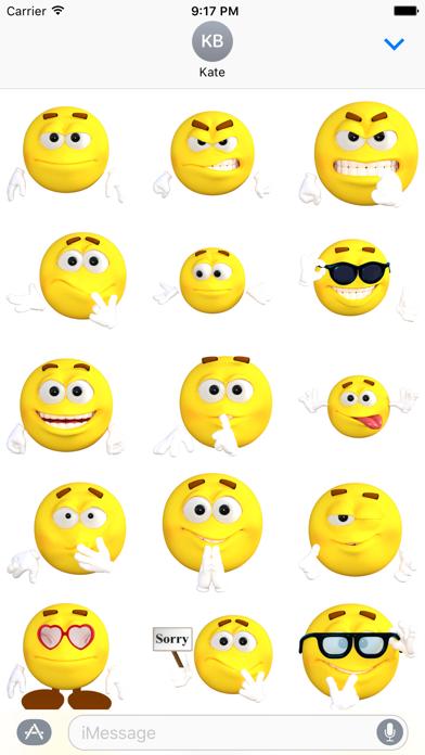Funny Emoji Stickers screenshot one