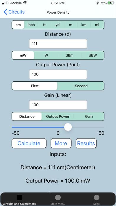 Screenshot #1 pour Electronics Circuit Calculator