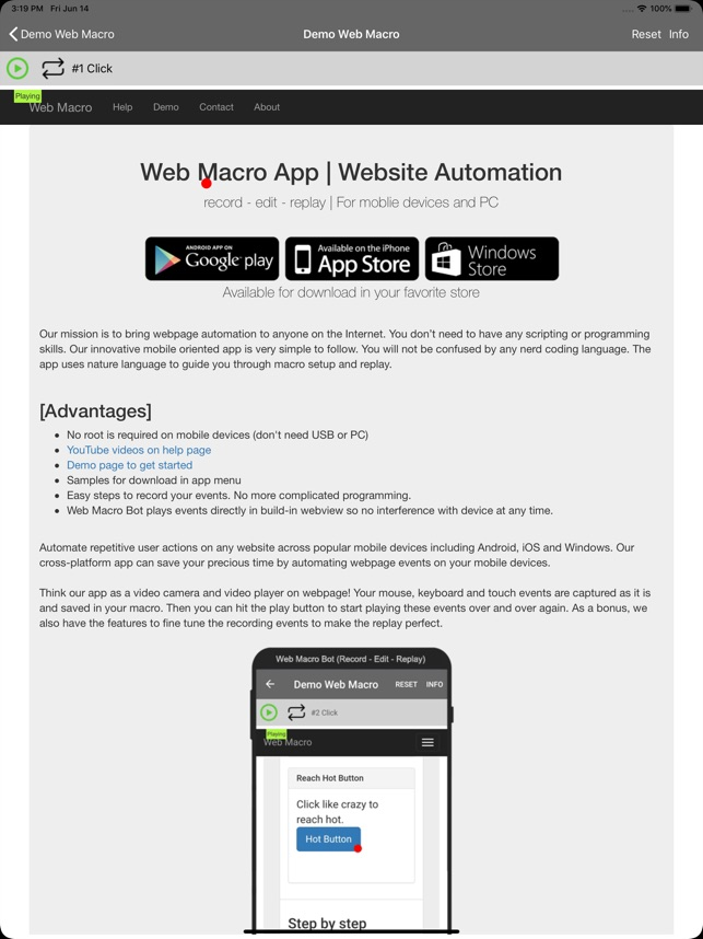 Web Macro Bot: Record & Replay on the App Store