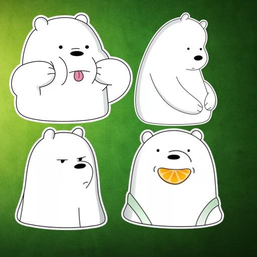 Cute white Bear Stickers
