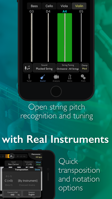 Screenshot for TonalEnergy Tuner & Metronome in Malaysia App Store