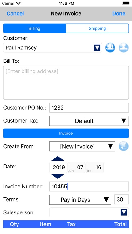 Express Invoice Invoicing screenshot-2