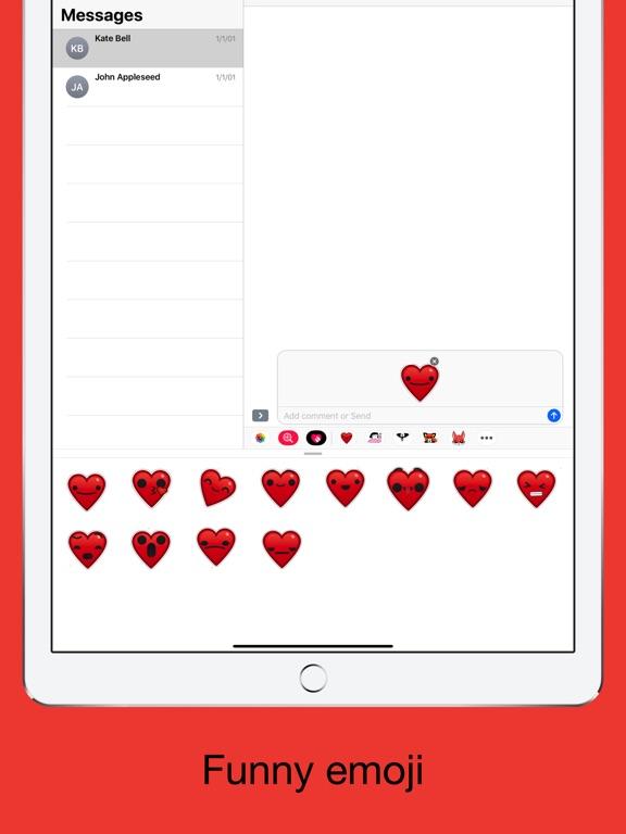 Heart - Emoji stickers screenshot 8