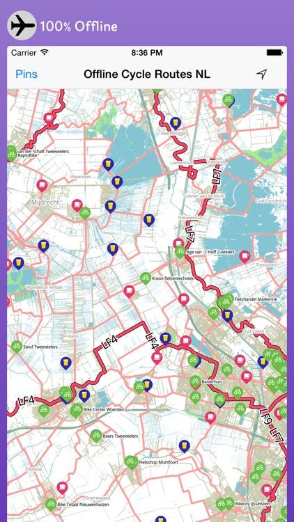 Offline Cycle Maps Netherlands screenshot-3