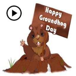 Animated Happy Groundhog Day