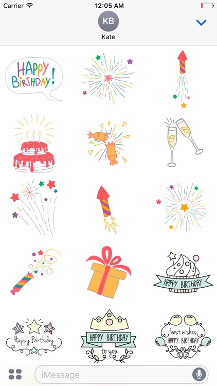 A Very Happy Birthday Stickers