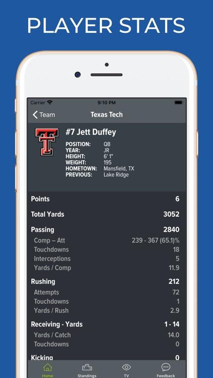 Texas Tech Football Schedules screenshot-3