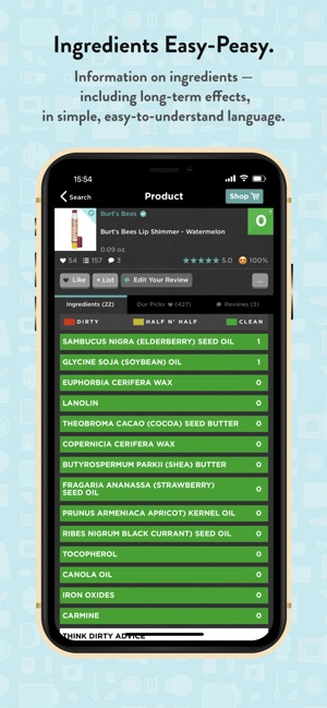 Think Dirty – Shop Clean on the App Store