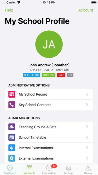 iStudent App screenshot one