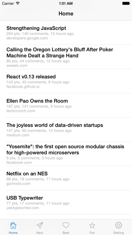 HN: Hacker News Reader