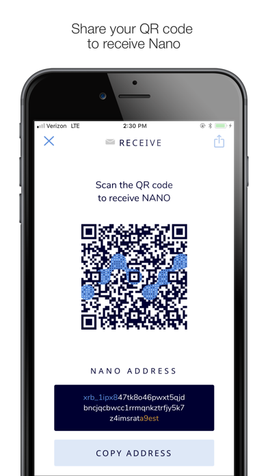 NWC Nano Wallet screenshot four