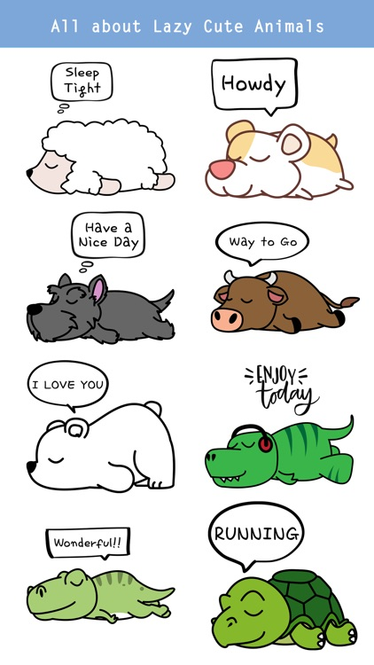 Say it with Lazy Animals