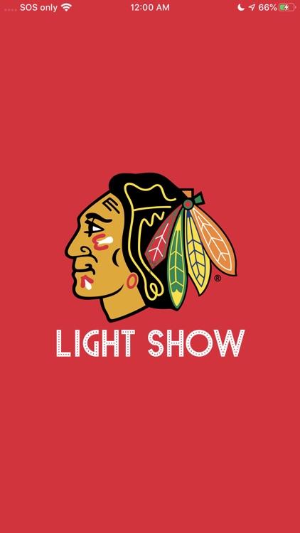 Blackhawks Light Show
