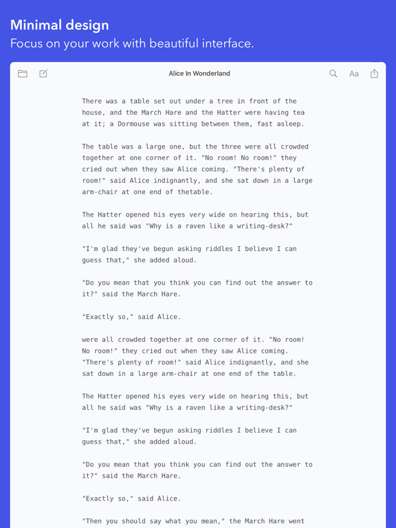 Screenshot #6 pour iWriter