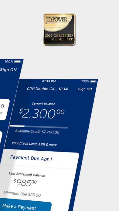 Citi Mobile (sm) screenshot