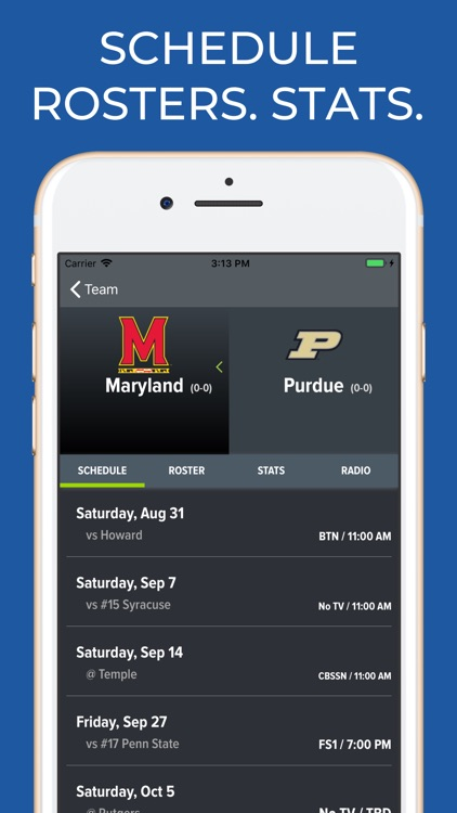 Purdue Football Schedules screenshot-9