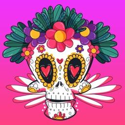 Dia des los Muertos Sugarskull