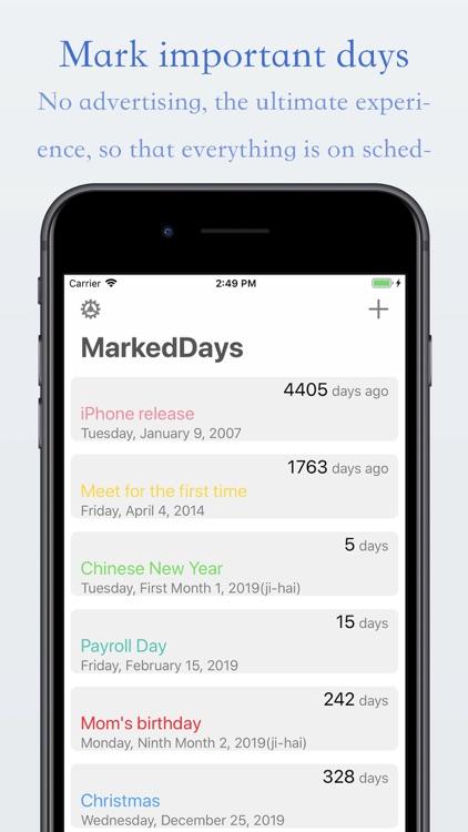 MarkedDays - Count to days