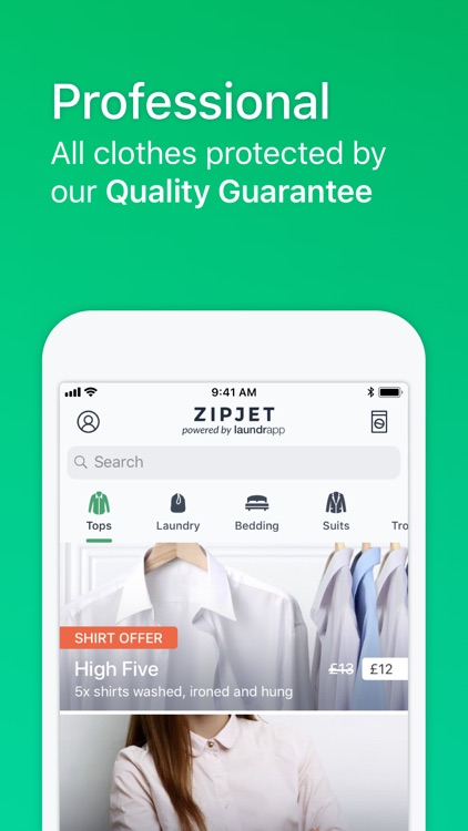 Zipjet powered by Laundrapp
