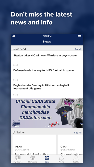 messages.download OSAA Live software