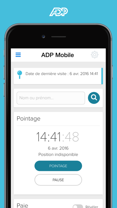 Screenshot #1 pour ADP Mobile Solutions