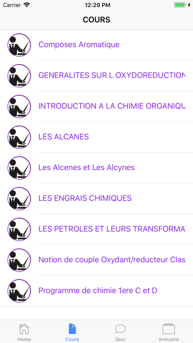 Chimie 1ère S screenshot 4