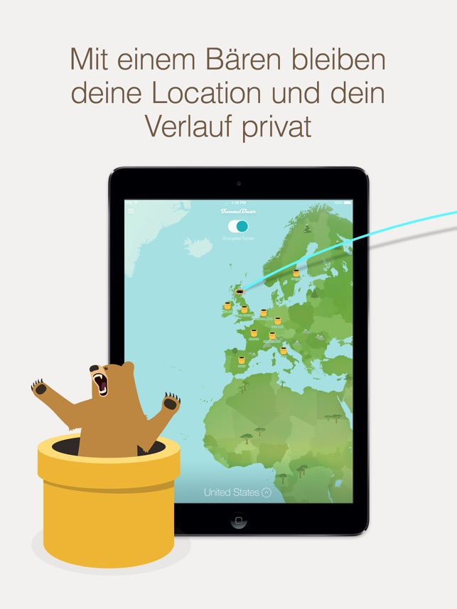 ‎TunnelBear VPN & Wifi Proxy Capture d'écran