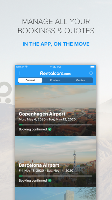 Rentalcars.com - Car hire App. Worldwide car rental made easy screenshot